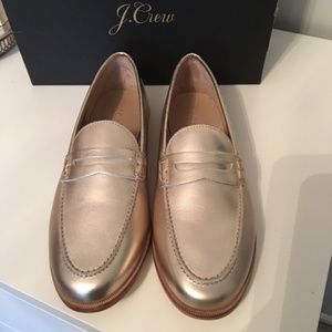 J. Crew Shoes - Jcrew Nora Penny Loafers in Metallic Leather
